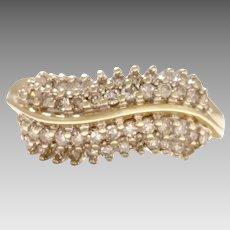 Vintage Circa 1970 1.00tcw 14KY Diamond Statement Ring (DIAR10269)