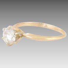 Estate 14 Karat Yellow Gold Diamond Ring 0.80 Carat My Measurement (DIAR10282)