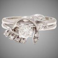 Estate Diamond Ring At Its Best 14 Karat White Gold 0.66tcw (DIAR10284)