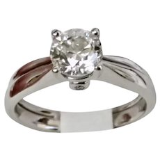 14 Karat White Gold 1.01 carat Diamond Solitaire Ring Beauty AND Price (DIAR10298)
