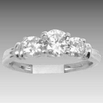 Estate Bonanza Bargain Great Quality 1.09tcw Diamond & Platinum Ring 1970 masterpiece (DIAR10307)