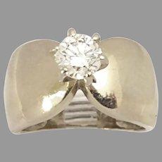 Great Estate 14kt White Gold .82ct Round Diamond Circa 1970's(DIAR10399) Size 6.75 on SALE Thru 7/07/2020 Fire Cracker Special!