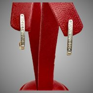 Diamond Fashion Earrings with 0.24tcw and 10K Yellow Gold (EARDIA10012)