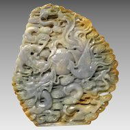 50% OFF SALE Intricate Jade Carving for Contemplation, 4025 carats. Chinese