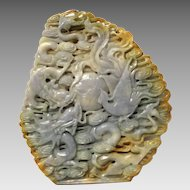 Intricate Chinese Jade Carving for Contemplation and Peaceful Meditation 4025 carats. Chinese Jadeite - GEM10023B