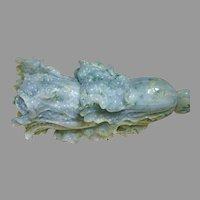 Vintage Chinese Cabbage (Bok Choy) Jadeite Carving (GEM10036)