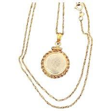 Intro Special 50% OFF Queen Elizabeth II Platinum Coin Pendant/Necklace Circa 2000 (GOLD10021)