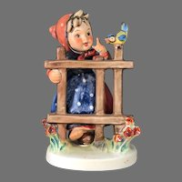 """Mint Condition! Vintage Hummel Figurine """"Signs of Spring"""" No. 203-1 Trademark-5 Hand Painted! (HC0003R) Adorable Rare Collectible Hummel in Mint Condition on SALE Great Piece!"""