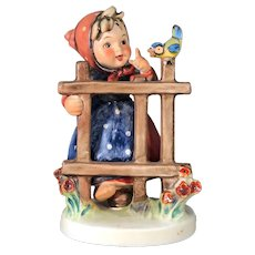 "Mint Condition! Vintage Hummel Figurine ""Signs of Spring"" No. 203-1 Trademark-5 Hand Painted! (HC0003R) Adorable Rare Collectible Hummel in Mint Condition"