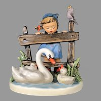 "Mint Condition! Vintage Hummel Figurine ""Feathered Friends"" No.344 Trademark-5, Hand Painted! (HC0008R) on SALE Great Piece!"