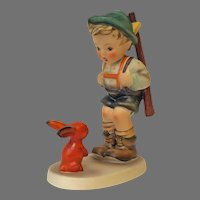 Mint Condition! Vintage Hummel Figurine Sensitive Hunter No. 6-1 Trademark-3 Hand Painted! (HC0009R) Adorable Rare Collectible Hummel in Mint Condition