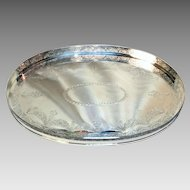 """Attractive Sheffield Tray """"Mara"""" Silver plated (and newly re-silver plated too!) - Popular 1970s style"""