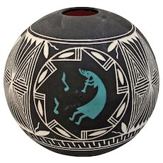 New Mexico Pueblo Indian Pottery by artist E. Garcia Jr 1996