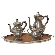 Dutch Pewter and Teak Wood Tea Service - OTH10075