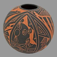 Southwestern Pot, Signed AC, Acoma, NM. Alisha China. New Mexico on SALE Thru 12-17-2020