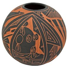 Southwestern Pot, Signed AC, Acoma, NM. Alisha China. New Mexico