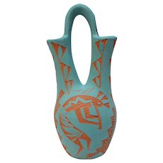 Sky City Wedding Vase by Shdiya'aits'a, Acoma, New Mexico