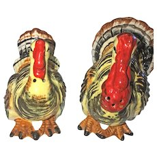 Vintage 1952 Ceramic Turkey Salt and Pepper Shakers (OTH10179)