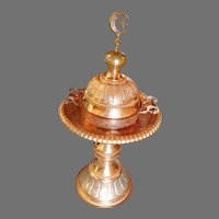 FINAL Markdown WOW! A Vintage Large Syrian Hand Crafted Copper Brazier originally owned by the State Department back in the 1940's OTH10189