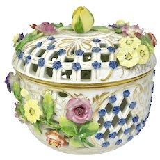 Delicate Dresden Porcelain Floral Bowl Set (OTH10267)
