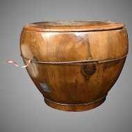 Rare Antique Qing Dynasty Rice Bucket from 1880's Zhejiang Province (OTH10328)