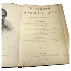 "Paul Fleury Mottelay Circa 1890 ""Soldier in Our Civil War"" Volumes 1&2 Collector's Set (OTH10337)"