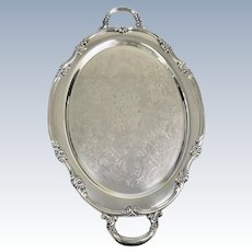 Reed and Barton Model 1820 22 Floral Silver-plate 22in Waiter Tray (OTH10343)