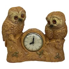 30% Off Intro Special EXTENDED! Vintage Detailed Electric Owl Clock (OTH10361)