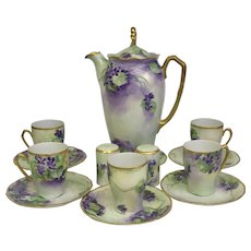 30% Off Intro Special EXTENDED! RARE Hand-painted Rosenthal German 13 Piece Porcelain Chocolate Set (OTH10363)