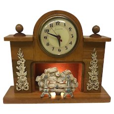 Vintage Sessions Electric Mantle Clock with Fireplace Design (OTH10365)