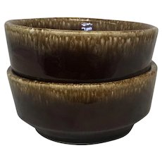 Vintage Hull Pottery Brown Drip Small Cereal/Salad Bowls (OTH10386)