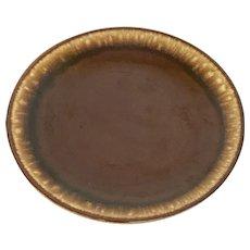 Vintage Brown Drip Pottery Dessert Plates (OTH10391)