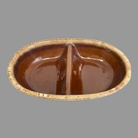Vintage HP Co Brown Drip Divided Bowls (OTH10398)