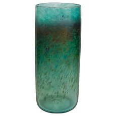 Large Iridescent Robert Held Teal Speckled Vase (OTH10413)