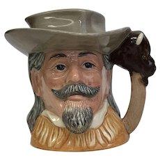 """Vintage Circa 1984 Royal Doulton Toby Mug """"Buffalo Bill"""" D6735 (OTH10429)"""