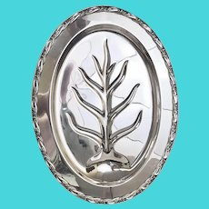 Vintage Rogers and Bro. Footed Silver Plate Turkey Platter (OTH10445)