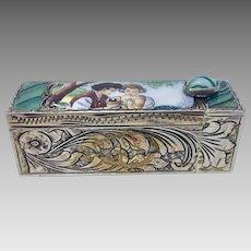 Antique Estate Italy Perezzi Silver .800 Lipstick Tube with Mirror (OTH10480)