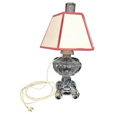 Vintage Working Converted Oil Lamp Electrified Oil Lamp (OTH10493)