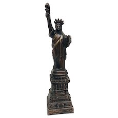 Vintage Circa 1950s Statue of Liberty Bronze Desk Statue- an Excellent Example of Mid-Century Patriotic Decor (OTH10499)