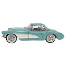 Vintage Franklin Mint die Cast  1956 Corvette Model Circa 1990 (OTH10532)
