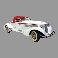 Vintage Franklin Mint Die Cast 1935 Auburn 851 Speedster White Lightning! (OTH10536) 1:24 Scale on SALE Cool Car!!