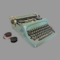 Amazing Condition! Vintage 1960's Olivetti Studio 44 Portable Typewriter With Hardcase in Working Condition (OTH10550) Teal Olivetti Typewriter Circa 1960 in working order with extra Ribbon & key