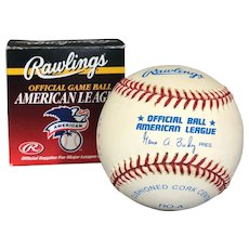 Don Larsen (Perfect Game) Signed Baseball at Hall of Fame Ceremony, Original Box (OTH10551)
