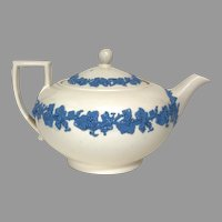 """Beautiful Wedgwood Queensware Porcelain Teapot and Sugar Set """"Lavender and Cream"""" Vintage c 1930! (OTH10552)"""