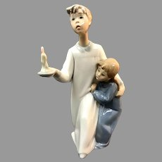 "Lladro Figurine ""Boy in Night Shirt"" No.4874 In Mint Condition (OTH10559) Porcelain Lladro Figurine c. 1970 on SALE Great Piece!"