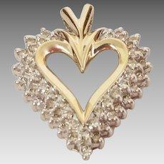Unique 10K 1.00tcw Diamond Heart Pendant (PENDIA10034)