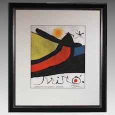 50% OFF SALE: Joan Miro D.L.M. Cover 1988 original lithograph w/ COA & hand signature reg # JM P 4 (ART10008)