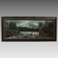 """50% OFF SALE: Luther Olanski """"Nature's Power"""" oil on cardboard Pacific NW landscape (ART10045)"""