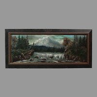 "Luther Olanski ""Nature's Power"" oil on cardboard Pacific NW landscape (ART10045)"
