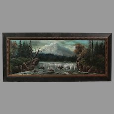 """Luther Olanski """"Nature's Power"""" oil on cardboard Pacific NW landscape (ART10045)"""
